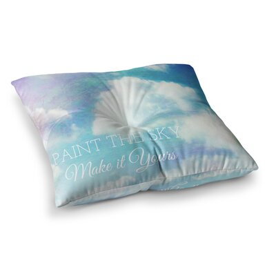 Paint the Sky! Coastal by Alison Coxon Floor Pillow Size: 26 x 26