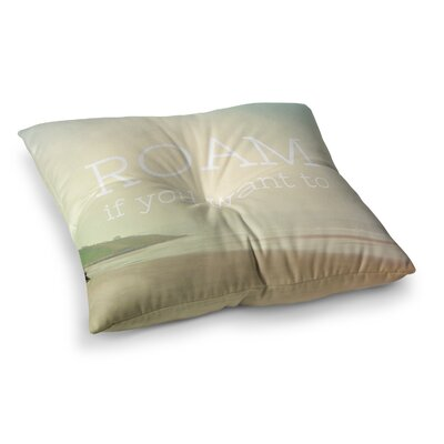 Roam Ocean by Alison Coxon Floor Pillow Size: 26 x 26