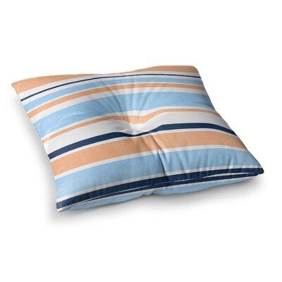 Jack Tar by Alison Coxon Floor Pillow Size: 23 x 23, Color: Pink/Orange/Blue