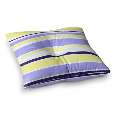 Jack Tar by Alison Coxon Floor Pillow Size: 23 x 23, Color: Yellow/Purple