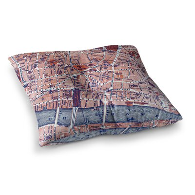 City of London Map by Alison Coxon Floor Pillow Size: 23 x 23