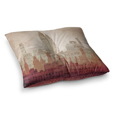 City Warm by Alison Coxon Floor Pillow Size: 26 x 26