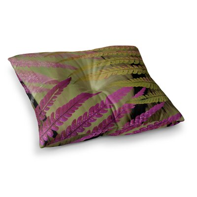 Forest Fern by Alison Coxon Floor Pillow Size: 26 x 26, Color: Pink/Brown/Mauve