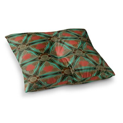 Moorish Earth by Alison Coxon Floor Pillow Size: 23 x 23