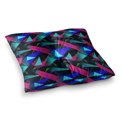 Confetti Triangles by Alison Coxon Floor Pillow Size: 26 x 26, Color: Magenta/Blue