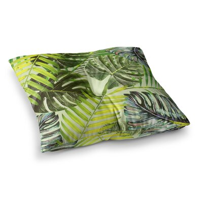 Jungle by Alison Coxon Floor Pillow Size: 23 x 23, Color: Green/Yellow