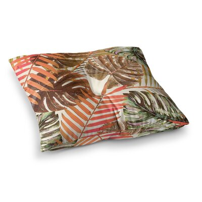 Jungle by Alison Coxon Floor Pillow Size: 26 x 26, Color: Orange/Brown