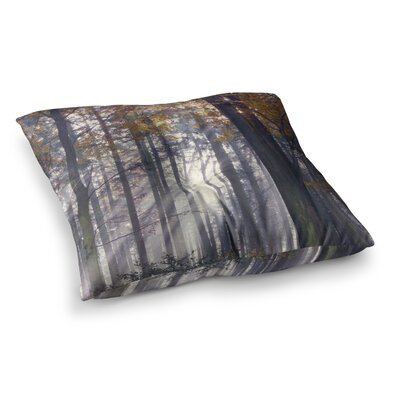 Autumn Sunbeams Trees Photography by Alison Coxon Floor Pillow Size: 23 x 23