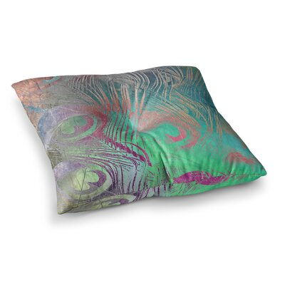 Indian Summer Abstract by Alison Coxon Floor Pillow Size: 23 x 23