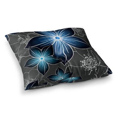 Cobalt by Alison Coxon Floor Pillow Size: 26 x 26