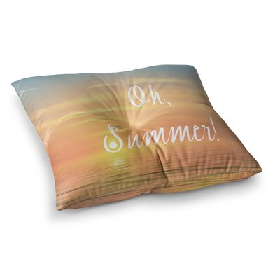 Oh, Summer! by Alison Coxon Floor Pillow Size: 23 x 23