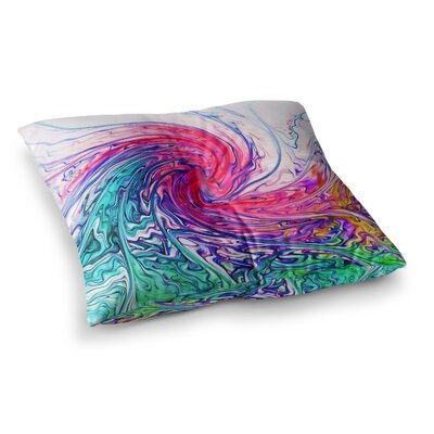 Colour Wave Fantasy by Alison Coxon Floor Pillow Size: 23 x 23