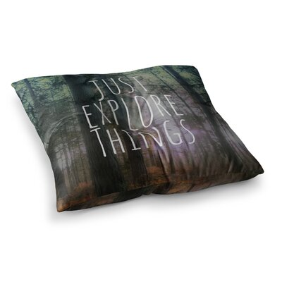 Just Explore Things Photography by Alison Coxon Floor Pillow Size: 23 x 23