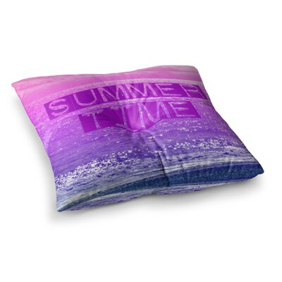 Summer Time Typography by Alison Coxon Floor Pillow Size: 23 x 23