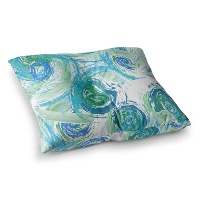 Sophia by Alison Coxon Floor Pillow Size: 26 x 26, Color: Green/Blue
