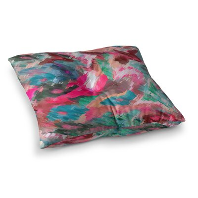 Giverny by Alison Coxon Floor Pillow Size: 23 x 23, Color: Pink/Teal/Peach
