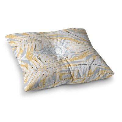 Planthouse by Alison Coxon Floor Pillow Size: 23 x 23, Color: Yellow/Gray