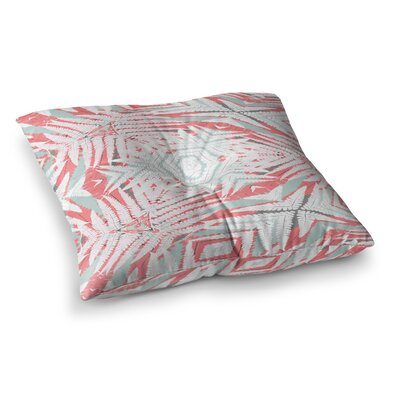 Planthouse by Alison Coxon Floor Pillow Size: 26 x 26, Color: Coral/Gray