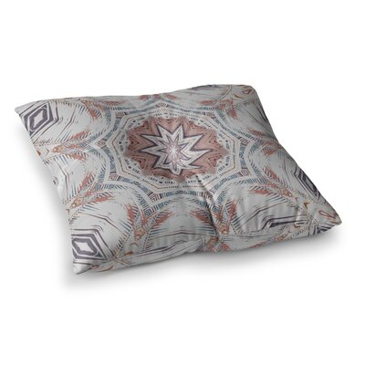 Boho Dream by Alison Coxon Floor Pillow Size: 26 x 26, Color: Pink/Blue/Tan