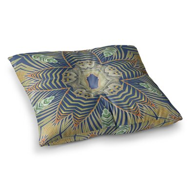 Kintenge by Alison Coxon Floor Pillow Size: 26 x 26, Color: Yellow