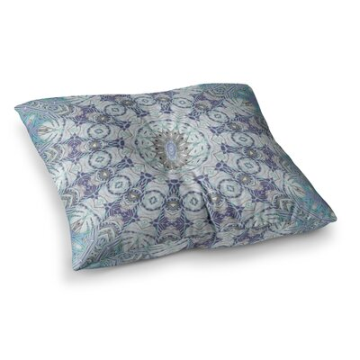 Jungle Kaleidoscope by Alison Coxon Floor Pillow Size: 23 x 23, Color: Blue/Purple