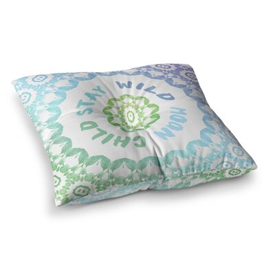 Stay Wild Moon Child Digital by Alison Coxon Floor Pillow Size: 23 x 23