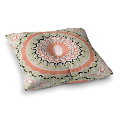 Mango Tango Mandala Digital by Alison Coxon Floor Pillow Size: 26 x 26