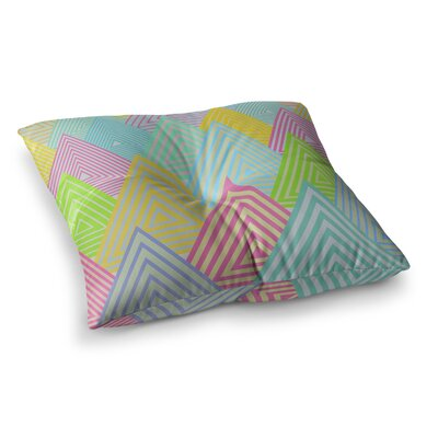 Pastel Mountains by Angelo Cerantola Floor Pillow Size: 23 x 23