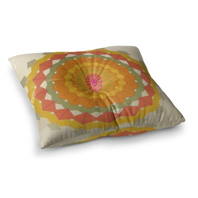 Composition by Angelo Cerantola Floor Pillow Size: 23 x 23, Color: Orange/Beige