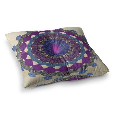 Composition by Angelo Cerantola Floor Pillow Size: 26 x 26, Color: Lavender/Beige/Purple