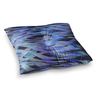 Tropical Electric by Angelo Cerantola Floor Pillow Size: 23 x 23, Color: Blue/Purple