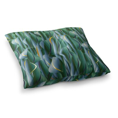 Luscious Digital by Angelo Cerantola Floor Pillow Size: 26 x 26, Color: Green/Blue