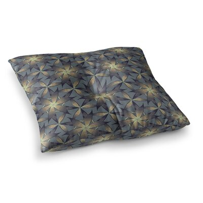 Copper Flowers Illustration by Angelo Cerantola Floor Pillow Size: 23 x 23