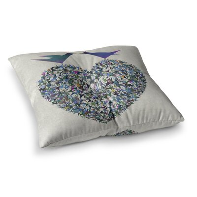 Our Love Illustration by Angelo Cerantola Floor Pillow Size: 23 x 23