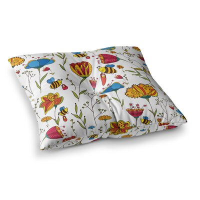 Bees by Alisa Drukman Floor Pillow Size: 26 x 26