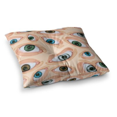 Eyeballs by Alisa Drukman Floor Pillow Size: 26 x 26