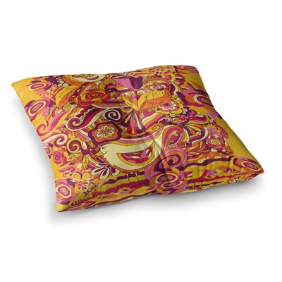 Utopia by Alisa Drukman Floor Pillow Size: 23 x 23