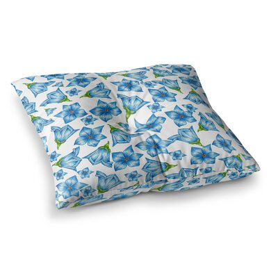 Flowers Floral Pattern by Alisa Drukman Floor Pillow Size: 26 x 26