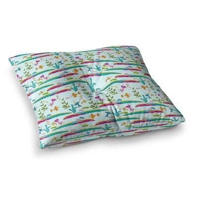 Under Sea Pattern by Alisa Drukman Floor Pillow Size: 26 x 26