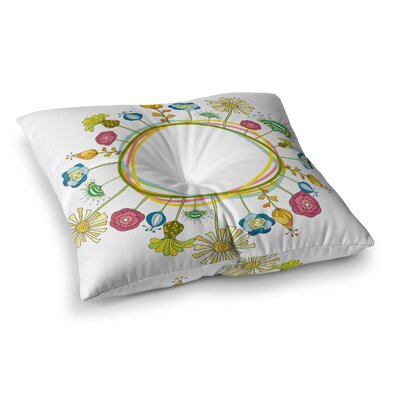 Floral by Alisa Drukman Floor Pillow Size: 26 x 26