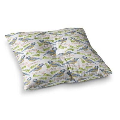 Bird Tit Pattern by Alisa Drukman Floor Pillow Size: 26 x 26