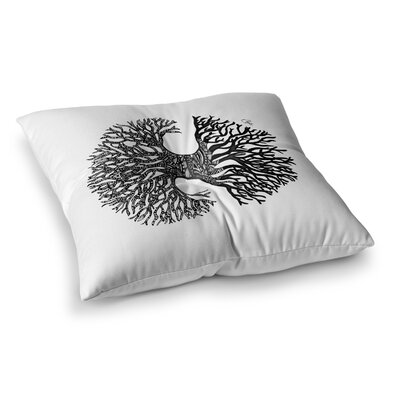The Tree of Life by Adriana De Leon Floor Pillow Size: 23 x 23