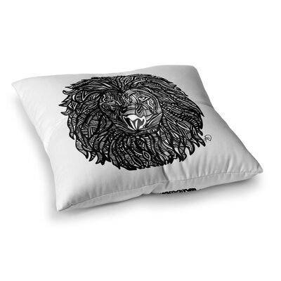 The Leon Lion Illustration by Adriana De Leon Floor Pillow Size: 26 x 26
