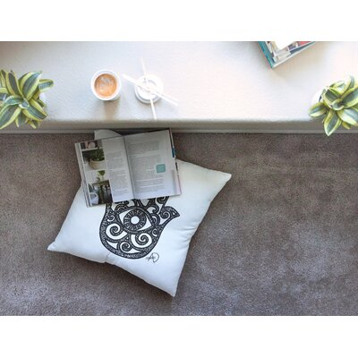 Hamsa Hand by Adriana De Leon Floor Pillow Size: 26 x 26
