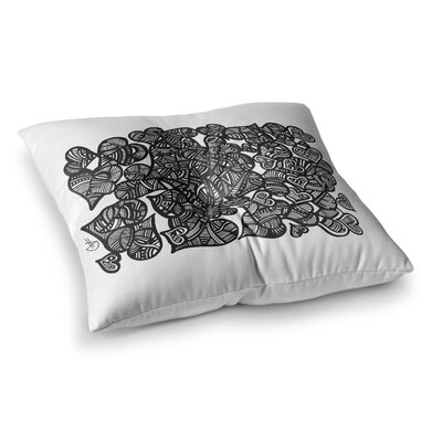 Hidden Hearts by Adriana De Leon Floor Pillow Size: 26 x 26
