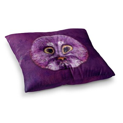 Hoot! Owl by Ancello Floor Pillow Size: 23 x 23