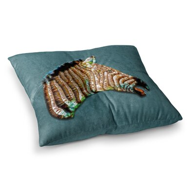 Laughing Zebra by Ancello Floor Pillow Size: 26 x 26