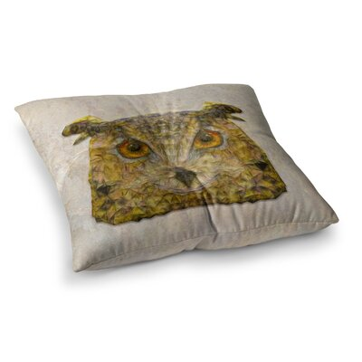 Abstract Owl by Ancello Floor Pillow Size: 26 x 26