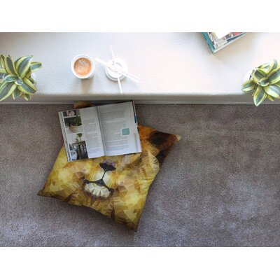 Lion King by Ancello Floor Pillow Size: 26 x 26