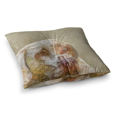 Abstract Dog Geometric by Ancello Floor Pillow Size: 23 x 23